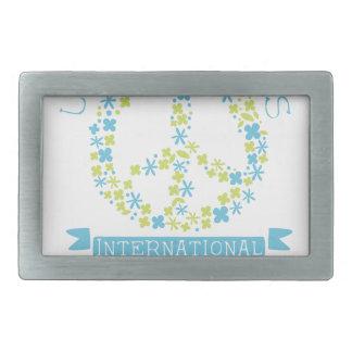 International Peace Day Label Designs In Pastel Co Belt Buckles