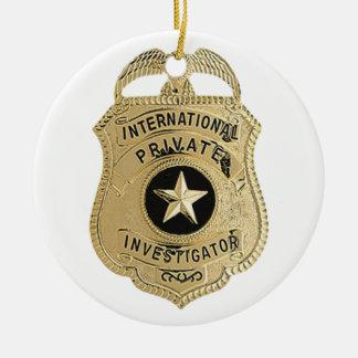 International Private Investigator Ceramic Ornament