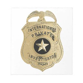 International Private Investigator Notepad