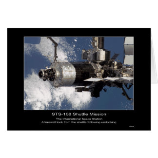 International Space Station as seen from STS-108 S Card