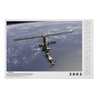 International Space Station Calendar for 2003 Poster