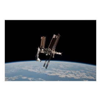 International Space Station Cupola Poster