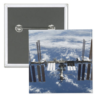 International Space Station in orbit 2 2 Inch Square Button