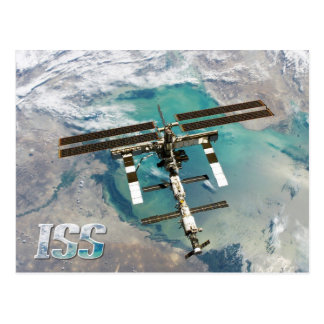 International Space Station (ISS) and Earth Postcard