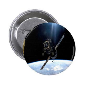 international space station iss nasa aerospace 2 inch round button