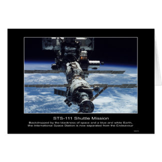 International Space Stationview from NASA STS-111 Card