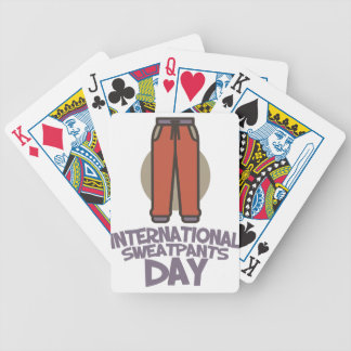 International Sweatpants Day - Appreciation Day Bicycle Playing Cards
