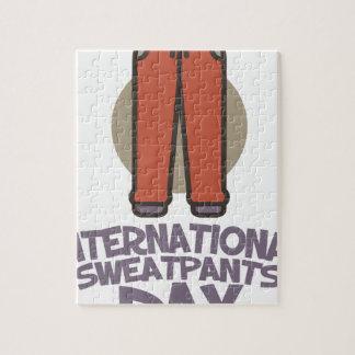 International Sweatpants Day - Appreciation Day Jigsaw Puzzle