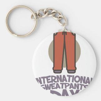 International Sweatpants Day - Appreciation Day Keychain