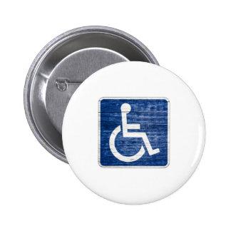 International Symbol of Access 2 Inch Round Button