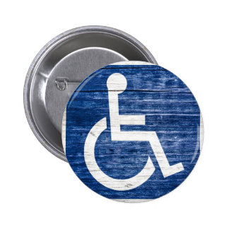 International Symbol of Access 2 Inch Round Button