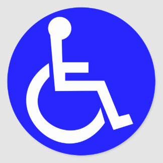 International symbol of access classic round sticker