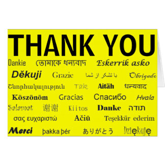 International Thank You Card
