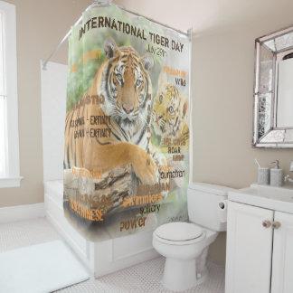 International Tiger Day, July 29, Typography Art