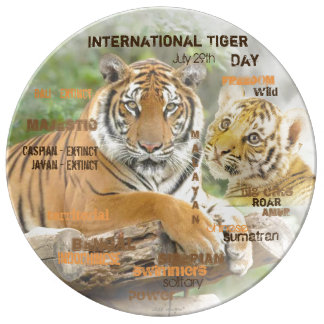 International Tiger Day, July 29, Typography Art Plate