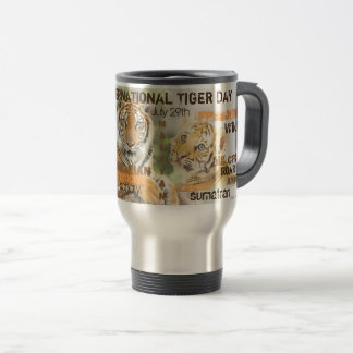 International Tiger Day, July 29, Typography Art Travel Mug