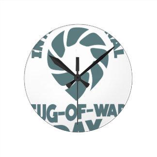 International Tug-of-War Day - 19th February Round Clock
