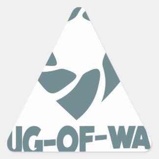 International Tug-of-War Day - 19th February Triangle Sticker