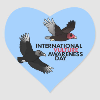 International Vulture Awareness Day Heart Sticker