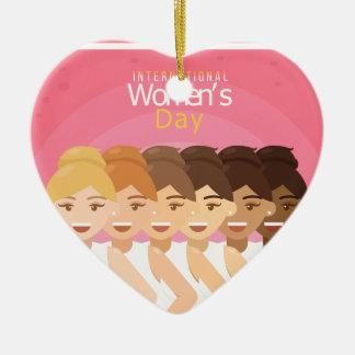 international Womens Day Ceramic Ornament