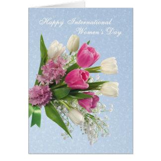 International Women's Day - spring flowres Card