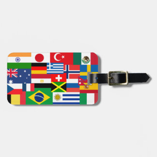 International World Flags Luggage Tag