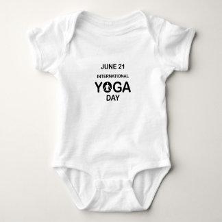 International yoga day june 21 baby bodysuit