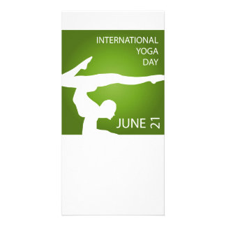International yoga day june 21 picture card