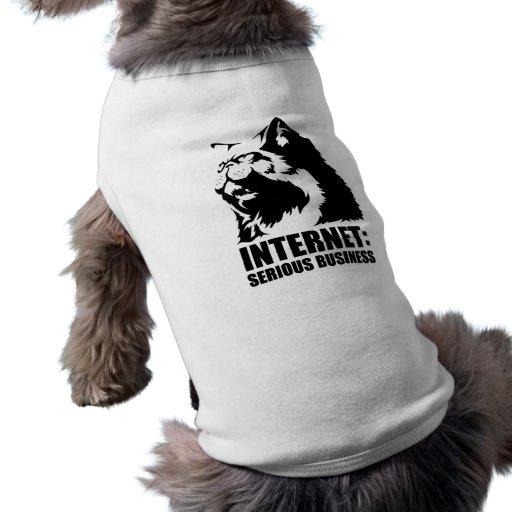Internet : Affaires sérieuses (T-shirt drôle de lo Vêtements Pour Chien