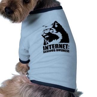 Internet : Affaires sérieuses (T-shirt drôle de lo Manteaux Pour Animaux Domestiques