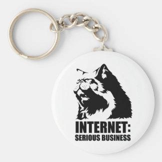 Internet : Affaires sérieuses (T-shirt drôle de lo Porte-clef