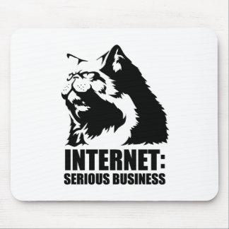 Internet : Affaires sérieuses (T-shirt drôle de lo Tapis De Souris
