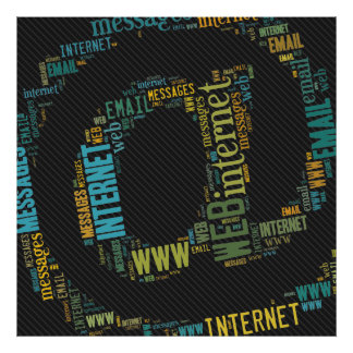 Internet Email Typed Text Symbol Geek poster