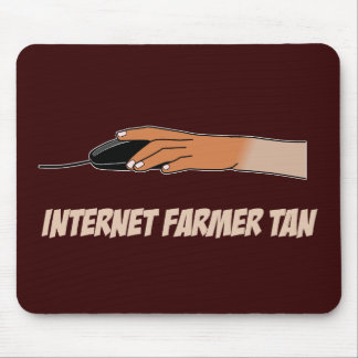 Internet Farmer Tan Mouse Pad