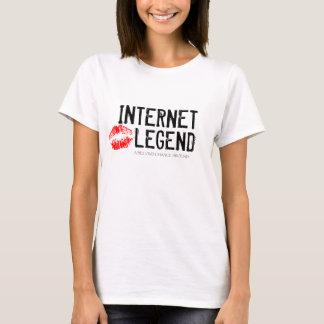 INTERNET LEGEND, LIPS RED WOMANS SHIRT
