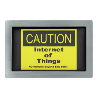 Internet of Things IoT Caution Warning Sign Belt Buckles