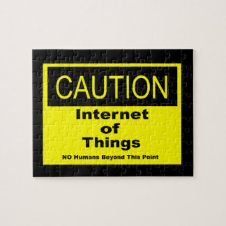 Internet of Things IoT Caution Warning Sign Jigsaw Puzzle
