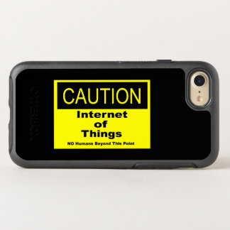Internet of Things IoT Caution Warning Sign OtterBox Symmetry iPhone 8/7 Case