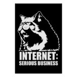 Internet: Serious Business (lolcat funny tshirt) Posters