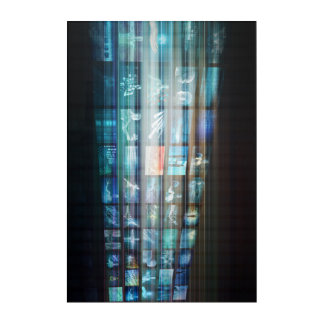 Internet Web Abstract on a Digital Background Acrylic Wall Art