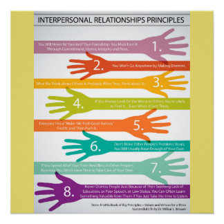 Interpersonal Relationships Principles Poster