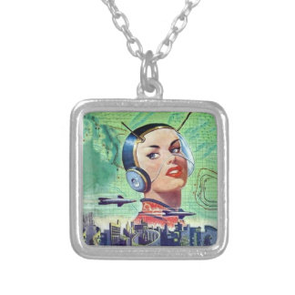 Interplanet Janet? Silver Plated Necklace