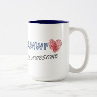 Interracial mixed couple AMWF love Two-Tone Coffee Mug