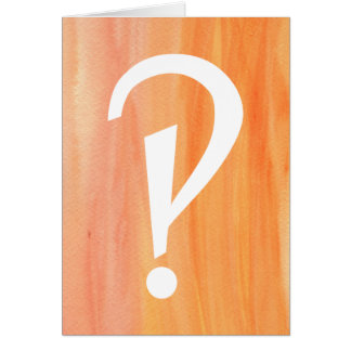 Interrobang Bright Card