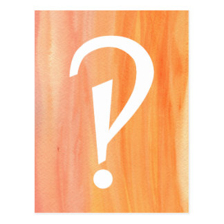 Interrobang Bright Postcard