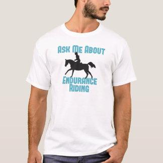 Interrogez-moi au sujet de l'équitation de t-shirt