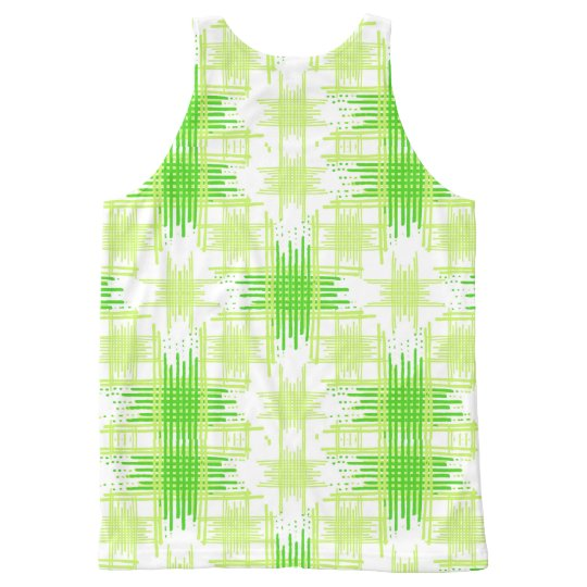 Intersecting Lines Pattern All-Over-Print Tank Top