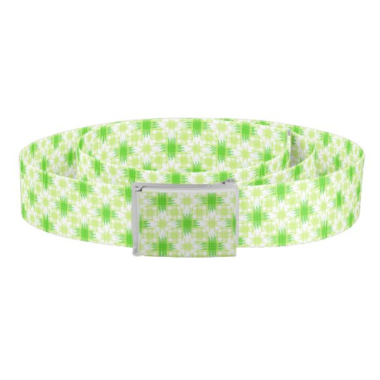 Intersecting Lines Pattern Belt