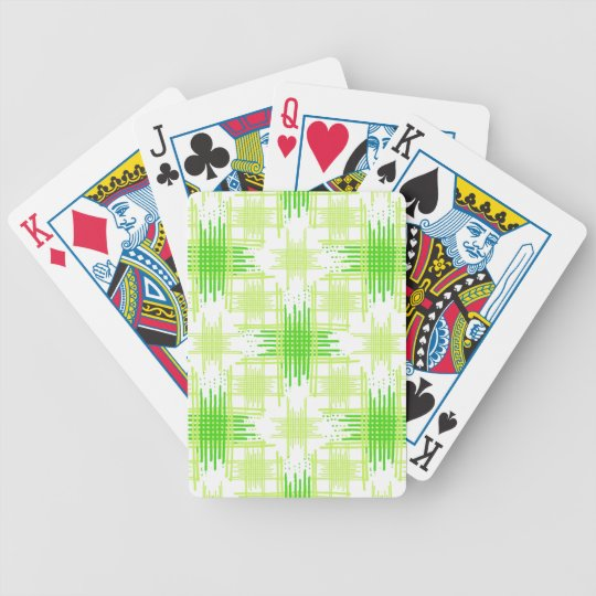 Intersecting Lines Pattern Bicycle Playing Cards