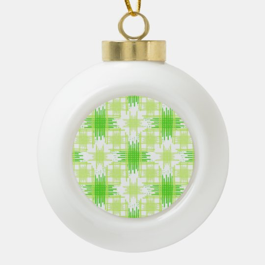 Intersecting Lines Pattern Ceramic Ball Christmas Ornament